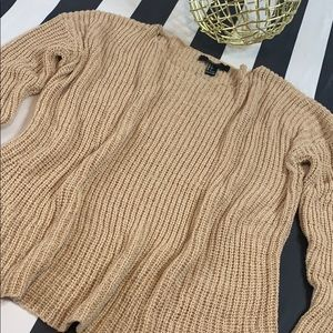 COZINESS KNITTING SCOOP SWEATER